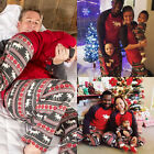 XMAS Family Matching Pajamas Set Deer Adult Kids Women Sleepwear Nightwear New