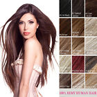 "100% Real Natural Hair Extensions Sleath Line Hair Extensions Half Head 18"" 90g"