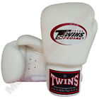 Twins Special Muay Thai Boxing Plain Gloves BGVL-3-WH White 8-10-12-14-16 oz.