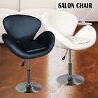 BLACK / WHITE CHAIR FAUX LEATHER STYLE BEAUTY SALON HAIRDRESSER BARBER CHAIR