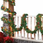 Lighted Evergreen Garland Lights - 18ft, by Collections Etc