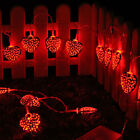2M 20 LED Love Heart String Fairy Lights For Xmas Wedding Party Battery Powered