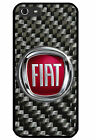 Fiat carbon logo iPhone 4 5 6 7 Samsung S3 4 5 6 7 edge Sony Case Cover