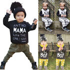 2PCS/Set Newborn Baby Boys Girl Kid T-shirt Tops Tee+Long Pants Outfits Clothes