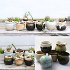 Mini Succulent Planter Glazed Ceramic Miniature Flower Pot Bonsai Garden Decor