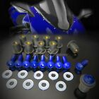 M5 x 32 Windscreen Bolt CNC 7075 Screws+10mm ABS Well Nuts+Washer Mount Kit Blue $11.1 USD on eBay