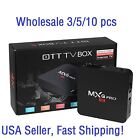 3/5/10 Lots MXQ Pro 4K S905 2.0GHz Quad Core Android 5.1 Smart TV Box HDMI KODI