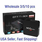 3/5/10 Lots MXQ Pro 4K S905 2.0GHz Quad Core Android 5.1 Smart TV Box HDMI