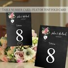 Personalised Wedding Table Number Cards-Place Name Cards-Jam Jar Flowers