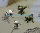 wholesale:30/90pcs Retro Style alloy Tibet silver  The bird Charm Pendant