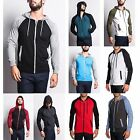 Victorious Men's Raglan Light Weight Zip Down Hoodie Fitness