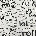 Text Messages Abbreviations and Internet Slang Cotton Multipurpose Fabric