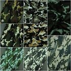Camo 100% Cotton Fabric, Camouflage Army Military Drill, Superior Quality
