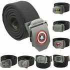 Captain America Men's Automatic Buckle Canvas Webbing Outdoor Casual Waist Belt