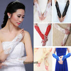 Bride Wedding Party Dress Fingerless Pearl Lace Satin Bridal Gloves Costume NEW