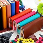 Fashion Lady Faux Leather Wallet Zip Around Case Purse Women Long Handbag Bag