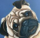 Pug painting fine art giclee print by artist Lizzie Hall