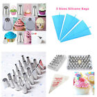 Reusable&Disposable Piping Bag Multi Shape Icing Nozzle Cupcake Decor Tool Mould