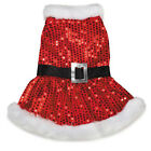 Pet Dog Clothes Mrs.Claus Christmas Holiday Dress - XXS,XS,S,S/M,M