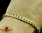 10k Yellow Gold Mens Womens Solid Cuban Curb Link Bracelet Chain 5mm-11mm 8 Inch