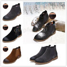 British Men's Chelsea Martin boots formal dress matte leather shoes casual retro