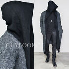 Dark Edge Designer Mens Wool Cape Long Hood Coat Cardigan Jacket By Guylook