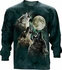 3 Wolf Moon Adult Unisex Animal Longsleeve Top The Mountain