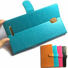 "PU Leather Case Cover For Up to 6.5"" Large Screen Smartphone (You choose model)"