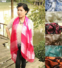 100% Pure Genuine Silk Scarf FAIR TRADE Shawl Wrap New Large Soft Ladies Paisley