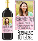Personalised Hen Night Bottle Label Wine, Spirit or Champagne HNBL 11