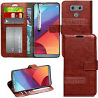 Vintage Luxury Classic Wallet Leather Case Cover + Screen Film For LG PHONES