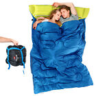 Huge Double Sleeping Bag 23F/-5C 2 Person Camping Hiking 86 x60  W/2 Pillows NEO