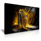 GOLDEN BUDDHA Praying Hands Canvas Wall Picture Print ~ More Size