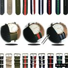 NATO Army Watch Strap Stripe Nylon Fabric Military Divers Dapper Wrist Band