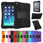 {Shockproof WaterResist } Rubber Stand Case Cover For iPad 2 3 4 /Mini /Air /Pro