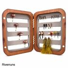Riverruns Nature Surface Wooden Fly Boxes Side EVA Foams or Magnetic Compartment