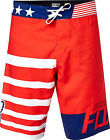 NEW FOX RACING ADULT RED WHITE AND TRUE BOARDSHORTS SWIM SURF BEACH BOARD SHORTS
