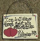 Wood Scripture Signs Hand Painted - 10 Different Sayings