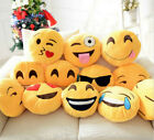 Emoji Emoticon Yellow Round Cushion Stuffed Soft 32cm Pillow Plush Xmas Gift UK