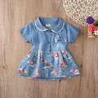Baby Girl Summer Flower Princess Dress Party Wedding Pageant Dresses Clothes 0-4