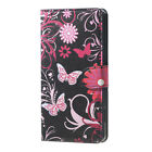 Flip Flower Stand Leather Wallet Card Hard Case For LG Lenovo WIKO