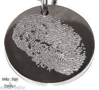 New Fingerprint or Hand Footprint Stainless Steel Pendant CHOOSE HEART or CIRCLE