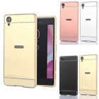 Luxury Aluminum Metal Mirror Back Cover Cases for Sony Xperia X/XA