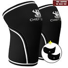 7mm Knee Sleeves 1 Pair Neoprene Compression Warmth Support Fitness Crossfit New
