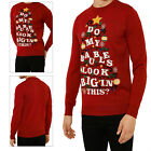 Threadbare Adults Novelty Christimas Festive Jumpers Red Baubles Xmas Tree