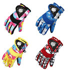 Boy Girl Ski Gloves Winter Motorcycle Skiing Climbing Snow Gloves Waterproof New