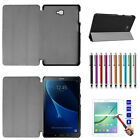 PU Leather Case Cover + Tempered Glass Film For Lenovo / Huawei / ASUS Tablet