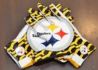 NIKE VAPOR FLY NFL RECEIVER GLOVES PITTSBURGH STEELERS YELLOW WHITE GF0202-250