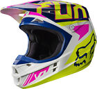 New FOX Racing MX Motocross Adult Helmet 2017 V1 Falcon Navy White Pink Yellow