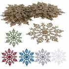 Hot 12PCS/Pack Plastic Glitter Snowflakes Christmas Party Xmas Tree  Home Decor
